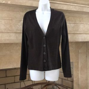 Vintage Banana Republic Chocolate Brown Cardigan